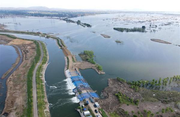 安徽:十八联圩生态湿地蓄洪区开机排涝【组图】