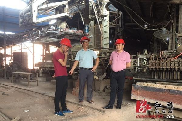 在东安县端桥铺镇开展安静生产检查