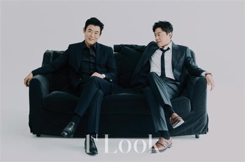 成东镒X金熙元时尚杂志画报公开 黑色套装尽显男性魅力