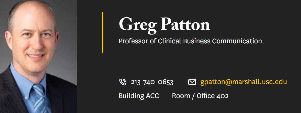 图为此次事件的主人公、美国南加州大学马歇尔商学院的教授格雷格·帕顿