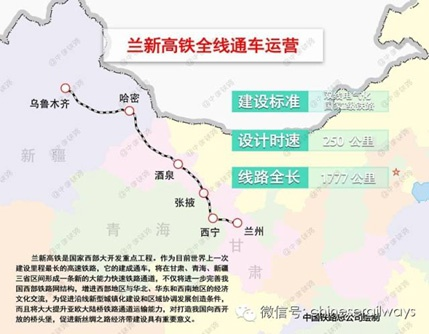 """兰新高铁。 图片来自中国铁路总公司官方微信公众号""""中国铁路"""""""