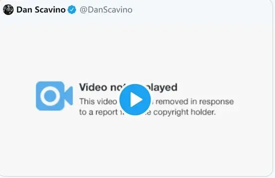 视频已被删除( 图源:推特)