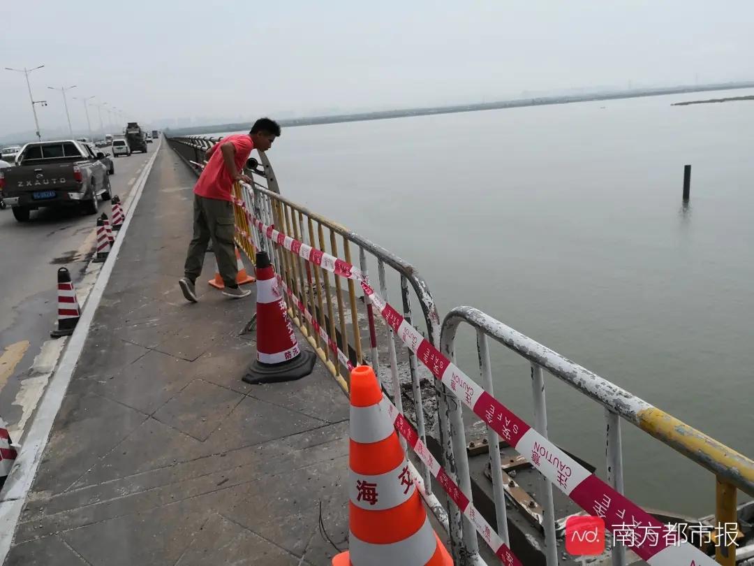 广东一货车失控冲出大桥坠海!23岁司机仍在搜救中(视频)