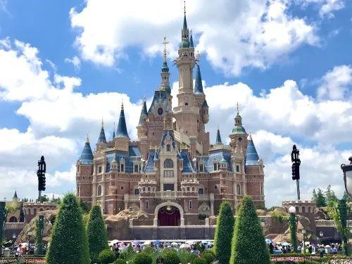 上海迪士尼奇幻童话城堡实景