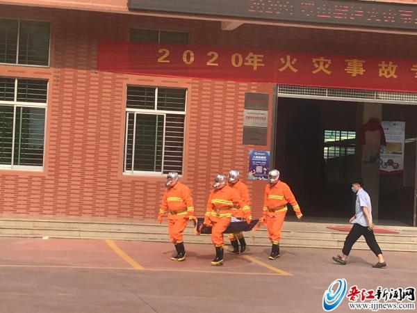 罗山开展消防安全应急演练 深入企业进行