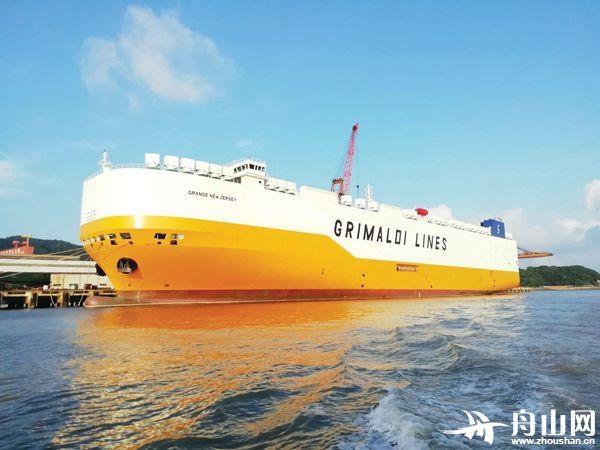 """""""扬帆""""交付今年复工后第一艘大型船舶 为7800车滚装船系列第四艘,第五艘计划下月交付"""
