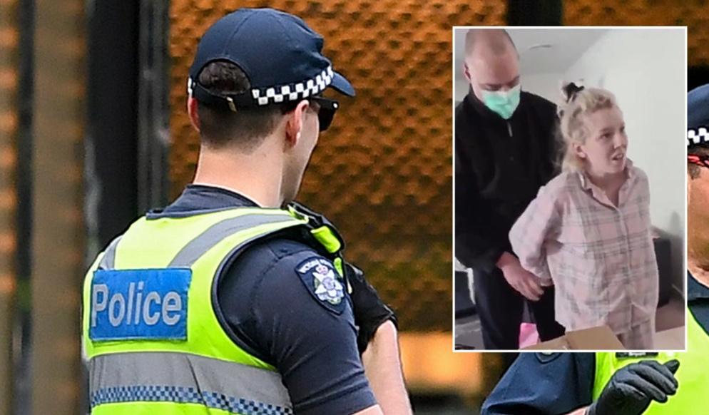 澳大利亚警方逮捕一名孕妇。(图源:法新社)