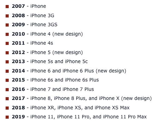 苹果新款iPhone命名或延续2019年方案