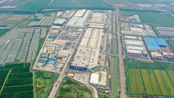特斯拉上海二期工程主体结构完成 可量产Model Y