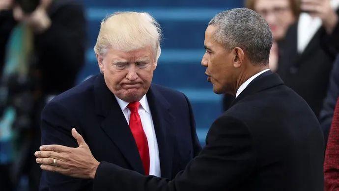 特朗普(左)和奥巴马