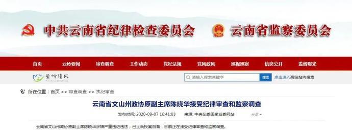 退休近5年,文山州政协原副主席陈晓华主动投案自首