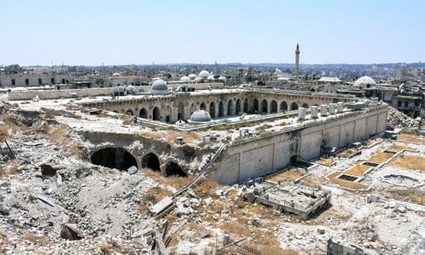 2017年,叙利亚阿勒颇的倭马亚大清真寺。