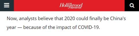 《好莱坞报道者》报道截图