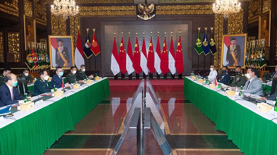魏凤和同印度尼西亚国防部长举行会谈图片