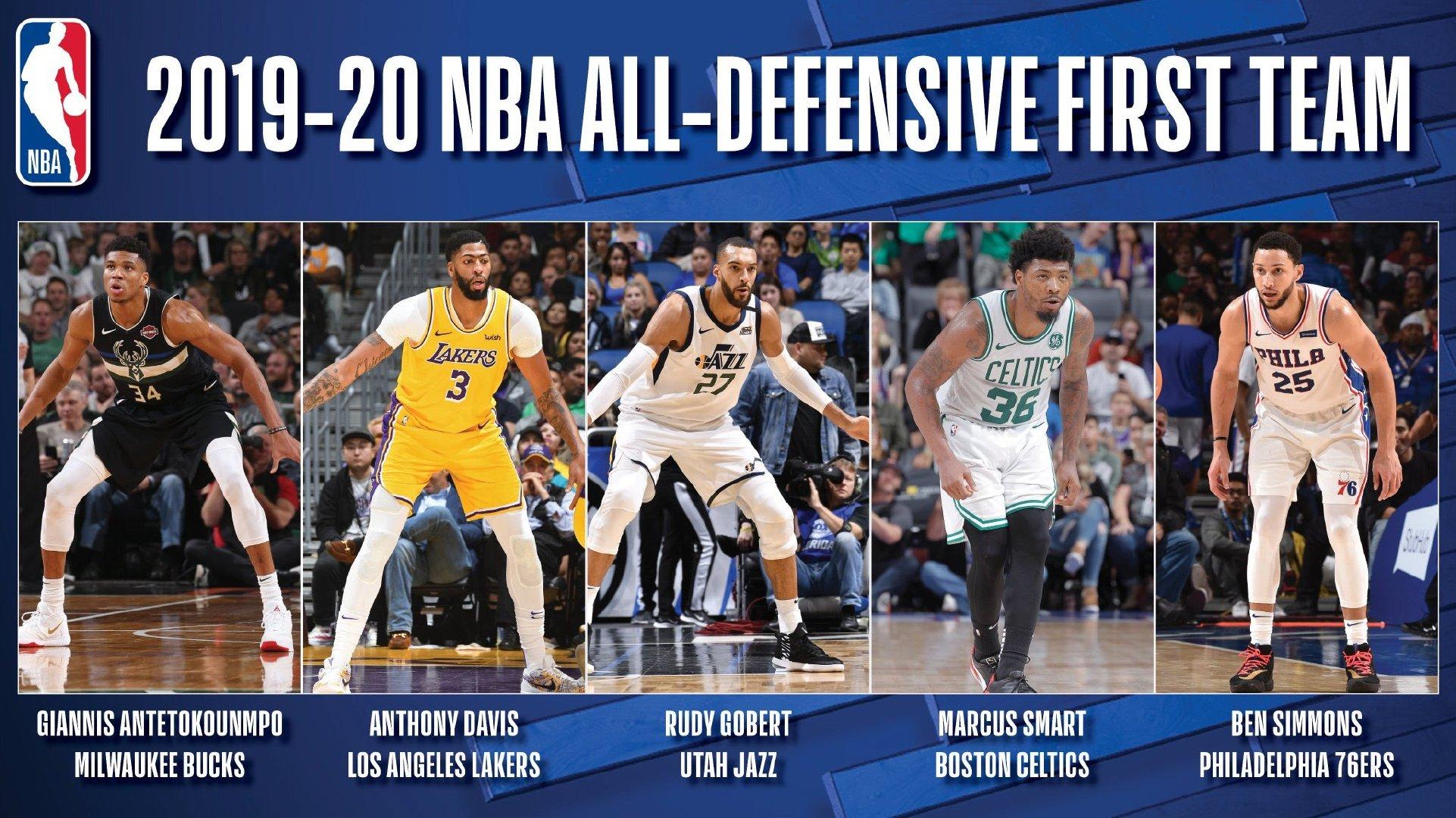 NBA赛季最佳防守阵容公布,字母哥、浓眉领衔一阵图片