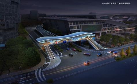 杭州火车东站边的这座天桥今年年底完工,取什么名字,等你出主意