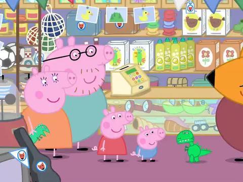 小猪佩奇:玩具恐龙真费电,身体里装成千上万电池,却还是没电!