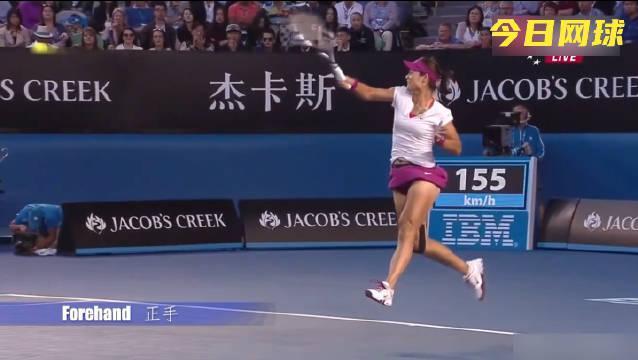 李娜网球技术动作欣赏!