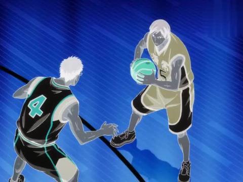 黑子的篮球:森山被盖帽了,结果他们开心发力了