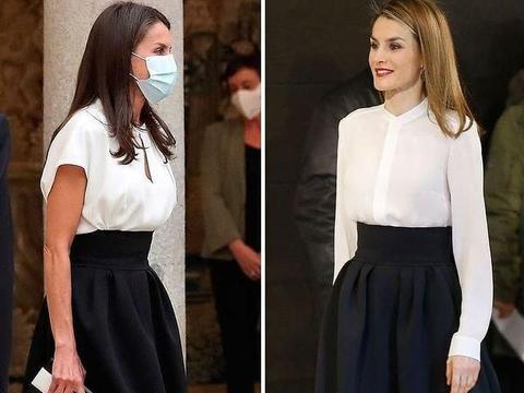 西班牙王后莱蒂齐亚,职场教科书式穿搭,偏爱精致又干练OL范儿