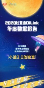 """2020比亚迪DiLink年度数据报告发布 """"你好小迪""""被呼叫898万次"""