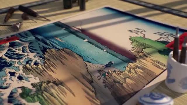 当日本浮世绘的经典风景走进3D世界🌊