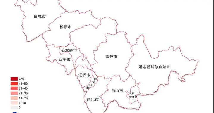 吉林省新冠肺炎疫情分布图(2021年1月6日公布)