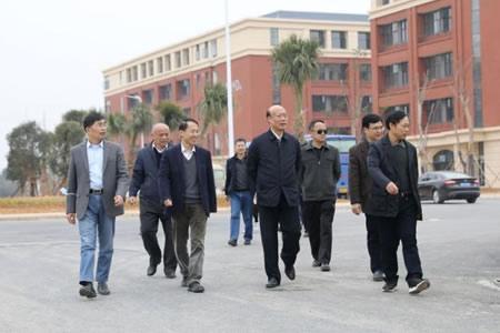 广西教育厅财政厅联合调研组到广西工业职业技术学院三校区调研