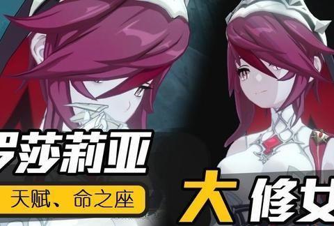 原神:新4星冰系长枪角色,战斗修女罗莎莉亚,释放技能提升暴击