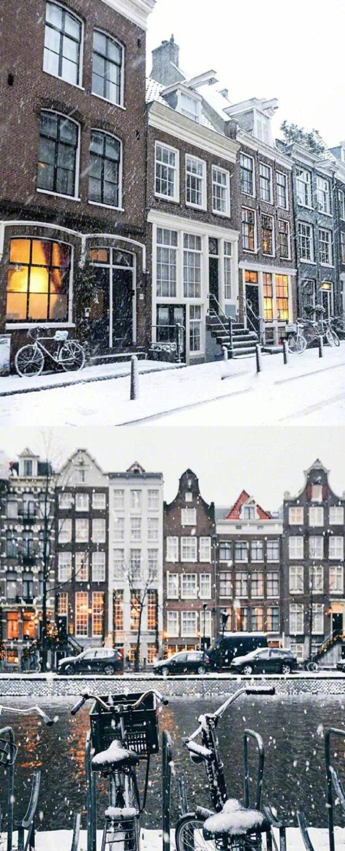 阿姆斯特丹的冬天,依旧那么美