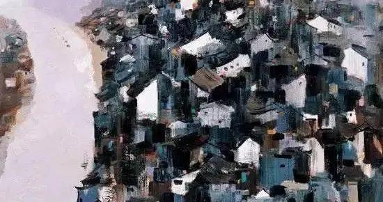 「大师作品」吴冠中画长江,气势磅礴、纵横万里