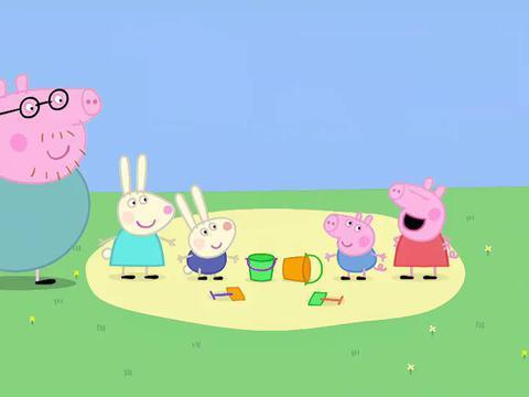 小猪佩奇:乔治和理查德一起玩,可是都不想分享恐龙玩具