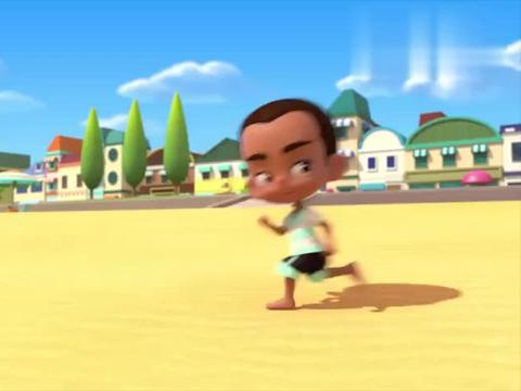 百变布鲁可:大家在沙滩上玩,艾里克冲浪很厉害,有人要和他比试
