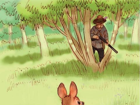 《小鹿班比》班比初临危险,碰到猎人,班比很走运