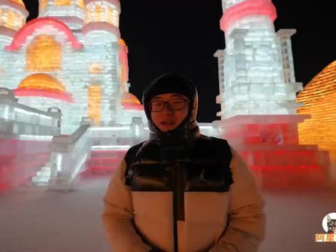 哈尔滨柴火铁锅炖,冰天雪地坐炕头,阿星烀饼子,吃东北大拌菜