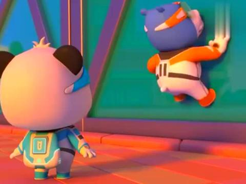 宝宝巴士奇妙救援队:熊猫用超级速度,幸免了一场高空坠物!