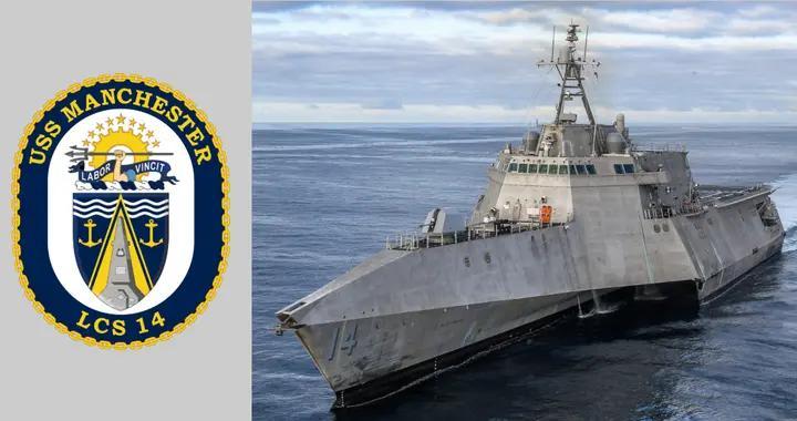 """美军""""曼切斯特""""号战舰,最新一艘在役的LCS,母港在圣迭戈"""
