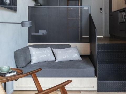 90后青年的26㎡单身公寓,标准的小蜗居,这样的卧室谁见过?