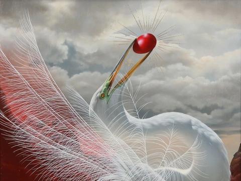 神秘的超写实画作,她画在木板上的鸟儿,仿佛下一秒就飞走了
