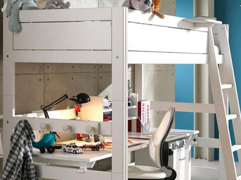 LIFETIME适合6岁以上儿童使用的书桌+儿童床组合