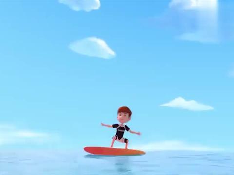 百变布鲁可:艾里克冲浪板真厉害,小朋友好喜欢,觉得非常帅气
