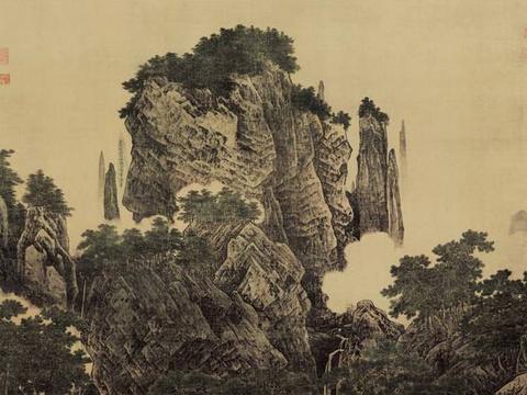 李唐画出《万壑松风图》,他将自己名字隐藏在画里,不容易被找到