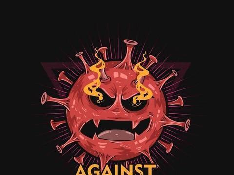 漫画家笔下的病毒形象,生动的二维卡通造型直观表现它的可恶