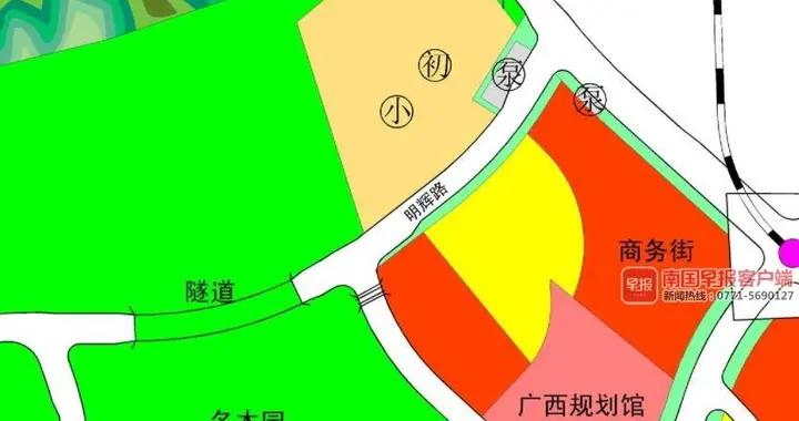 广西规划馆旁拟规划新增一所小学,取消原规划高中