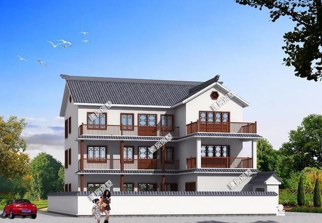 两栋高颜值,中式和简欧风格设计的别墅,都可以称为豪宅