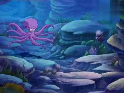 小鲤鱼历险记:泡泡困住章鱼团长,去找赖皮蛇,结果遇到了泥石流
