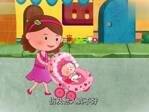可可小爱:妈妈带孩子散步,突然易拉罐从天而降,幸好没打到孩子