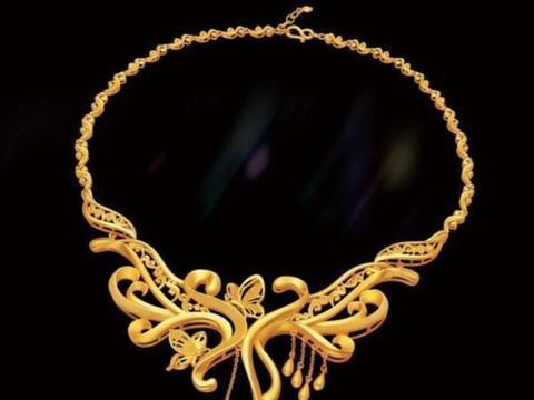 黄金饰品终于打破古板的设计,时尚又新潮,这样的首饰是国风精品