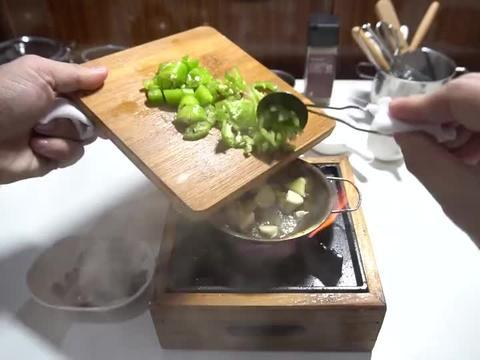 迷你厨房,今天吃青椒炒鸭胗
