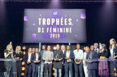 2018-19法国女子一等奖颁奖典礼:中国选手王霜未得奖